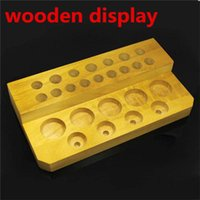 acrylic displayer case - Wooden display rack display stand showcase wood display shelf retail store VS acrylic displayer case for ego mech mechanical mod eliquid DHL
