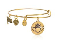 american queen bracelet - Alex Ani silver and gold plated simple wiring Alex and Ani Initial queen love heart bead Bangles luckly bracelet for women new arrival