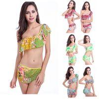 Wholesale 2015 high grade sexy falbala one shoulder bikini top grade gauze comfortable breathable bikini