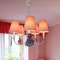 belle lamp - HGHomeart This cute girl Belle pink bedroom chandelier lamp cartoon modern minimalist children room lamps LED