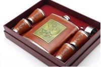 alcohol gift packs - 18OZ ml hip flask Gift Set stainless steel whisky bottle alcohol bottle gift box packing