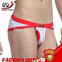 Cheap Winter wangjiang sexy jockstrap underwear gay biquini sexy men underwear world of tanks mens thongs and g strings!2011-DKs
