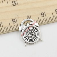 antique clocks for sale - 20pcs Hot Sale Antique Silver Clock Charms Pendants for Jewelry Making DIY Handmade Craft x14mm Jewelry making DIY