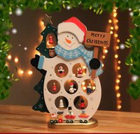 Wholesale Charming DIY Wood Christmas Snowman Ornament Decoration Decor Gift Snowman Design Xmas Covers Indoor Christmas Party Supplies