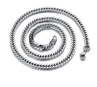 mens silver chains - Mens Curb Cuban Stainless Steel Chain Necklace MM Fashion Men Link Chains Quality Jewelry