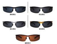 aluminium and magnesium - New arrival Men and Women High Quality Aluminium Magnesium polarizing sunglasses Outdoors Sport driving Sunglasses