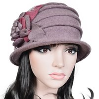 black felt hat - Elegant Design Womens Winter Hats Stereo Flower Soft Feeling Cloche Hat For Party Best Beret Hats On Sale C020