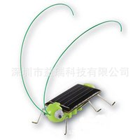 Wholesale 2015 New Item Funny Solar Powered Grasshopper Robot insect Toy gift Educational Solar Grasshopper