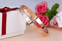 Wedding Bracelets bangles with diamonds - Forever lovers silver k rose gold plated stainless steel screw bangle bracelet with screwdrivers NK9