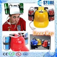 beer drinking cap - Price piece Beer Can Holder Helmet Drinking Helmet Drinking Hat Beer Cap wu