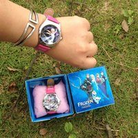 Wholesale 2014 Hot Frozen Elsa Anna Children watches and Cartoon watches Party Gifts With Retail Box Kids Toys Anna Elsa Quartz Watch Christmas Gift