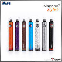 authentic wholesale stylish - 100 Authentic Vision Vapros Stylish mah E Electronic Ciagerttes Battery Variable Voltage V VV Mode Vaporizer eGo c Twist