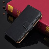 genuine leather wallet - For Galaxy S4 mini Real Genuine Leather Wallet Credit Card Holder Stand Case Cover For Samsung I9190
