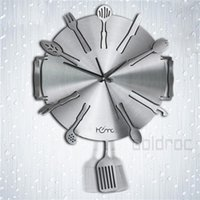 art dinnerware - New Modern Art Dinnerware Style Aluminum Decorative Wall Clock for Home Kitchen