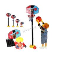 Cheap Wholesale-DIY Baby Intellectual Toys Boy Gift Sports Baskets Assemble Basketball Stands with Tie Pump Outdoor and Indoor