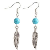 green leaves - 2016 Luxury Leaves Turquoise Rhinestone Bohemian Hoop Earrings For Women Stud Chandelier Earrings Fashion Jewelry