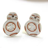 bb friend - Star Wars BB Cuff Links Spherical Robot Rebel Alliance Enamel Shirt Brand Cuff Buttons Cufflinks For Mens Friend Gifts