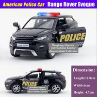 Big Kids american car models - 1 Scale Alloy Diecast American Police Car Model For Range Rover Evoque Collection Pull Back Metal Car Toys Black