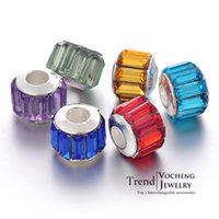 Wholesale Acrylic Floating Charms Beads Silver Plated Beads Oval Metal Beads Vn Vocheng Jewelry