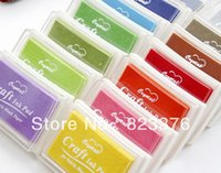Wholesale DHL New Nice color big craft Ink pad Stamp inkpad set for DIY funny work mon