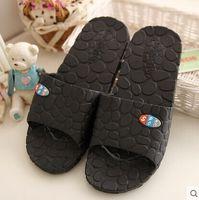 plastic slippers - Bathroom slippers home slippers home indoor bathing slip summer sandals and slippers female couple plastic flooring