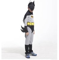 batman childrens costume - Childrens Super Hero Batmen Costume Outfit Size Performance Clothes Halloween Party Supplies New Year Showtime