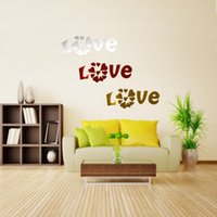 beautiful love mirrors - Beautiful Design DIY Mirror Love Hearts Wall Sticker Home Decoration Mural Art Decals Acrylic Lowest Price