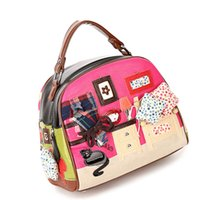 bag borsa - new HOT PROMOTION Borsa Braccialini STYLE Italy Handicraft Art Design Women Shoulder Bag Vintage Handbag Tote Souvenir Bar