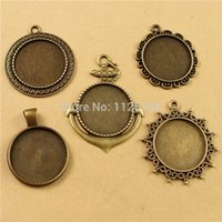Wholesale Inner mm Pendant Tray Fit Glass Cabochon Setting Jewelry Findings style