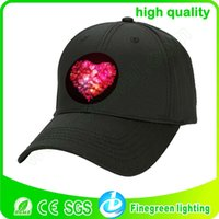 Wholesale Concert cheering cap hat EL cold light emitting tall hat on gifts fashion accessories