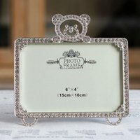 beaded picture frames - Fashion Rhinestone Beaded Metal Photo Picture Frame x6 quot