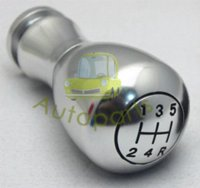 Wholesale Aluminum metal momo Manual Gear Shift Knobs stick shift knob Chrome color silver Freeshipping shift gear knob
