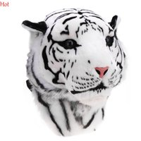 Wholesale 2016 Backpacks D Tiger Head Backpack Cartoon Animal Lion Bags White Brown Women Men Casual Daypacks Travelling Bags Backpacks Hot SV012090