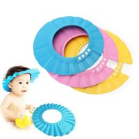 Wholesale Adjustable Safe Soft Children Bath Cap Hat for Baby Children Shampoo Shower Wash Hair Shield Hat Cap