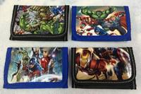 500pcs Spedizione Gratuita Marvel The Avengers Iron man bambino Borsa della moneta Portafoglio borse w zip nuovo