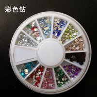 Wholesale Nail Art Tool New Nail Art Rhinestones Glitters Acrylic Tips Decoration Manicure Wheel style