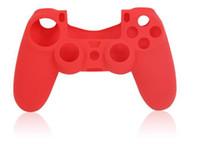 Bon Marché Contrôleur ps4 couvercle du boîtier-Pour la PS4 Nouveau Silicone Souple housse de Protection de Cas de Couverture de Peau pour PlayStation 4 PS4 Xbox un Contrôleur d'usine