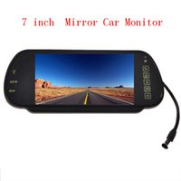 "Cheap NEW 7"" Inch Color FT LCD Widescreen DVD Camera VCR Roof Car Rear View Mirror Monitor with MP5 Player Function Support SD USB"