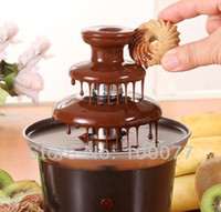 Wholesale 2015 New Mini Chocolate Fountain Household Tier Chocolate Fondue Machine Choco Tree EU Standard A3
