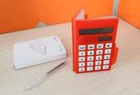 pocket notebook calculator - hot sale nice Pocket solar calculator notepad with business calculator notebook pen
