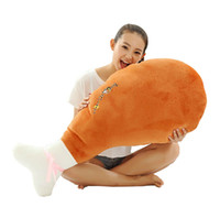 Wholesale Chicken drumstick plush toy stuffed toy throw pillow cushion