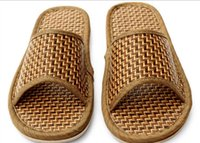bamboo flip flops - Bamboo shoes flat shoes home slippers frozen shoes