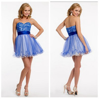backless strapless body - Sky Blue Short Homecoming Dresses Sweetheart Empire Waist Mini Applique Body Cocktail Dress With Beaded Sweet Dresses Short Boat Neckline