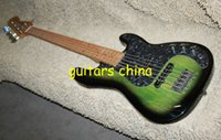 Wholesale 2015 New Custom Green Strings Electric Bass guitar Maple fingerboard