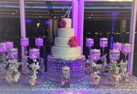 """Wedding Other Holiday Supplies White Free shipping wedding acrylic crystal cake stand Gift leds 1 order Cake rack diameter 8""""tall"""
