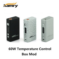 Wholesale 100 Original Kamry W TC Box Mod Vaporizer Watt Temperature Control Variable Wattage W W Resistance ohm Ecig Vapor VV VW Mods