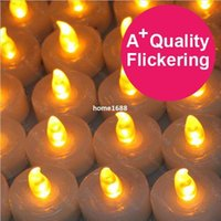 flicker candle - Flickering LED Smokeless flameless Battery Candles Tea Light Christmas Promotions off New