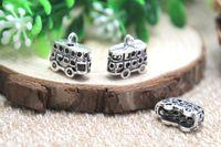 antique silver london - 12pcs London Bus Charms Antique Tibetan Silver Double Decker Bus Charm pendants DIY Supplies x17mm