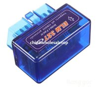 Wholesale 2014 High Quality SUPER MINI ELM327 Bluetooth OBD2 V1 Universal OBDII Car Diagnostic Scanner Super ELM