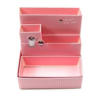 Wholesale DIY Paper Board Storage Box Desk Decor Stationery Cosmetic Makeup Organizer New D0648